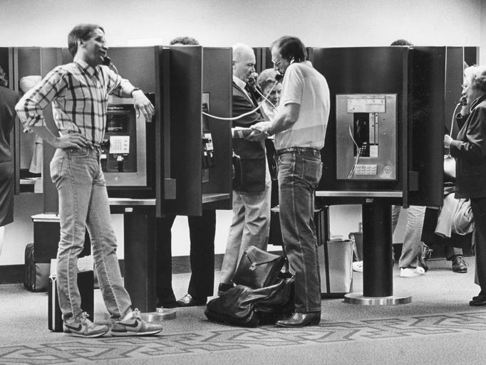 THEN: Before cellphones, travelers headed directly