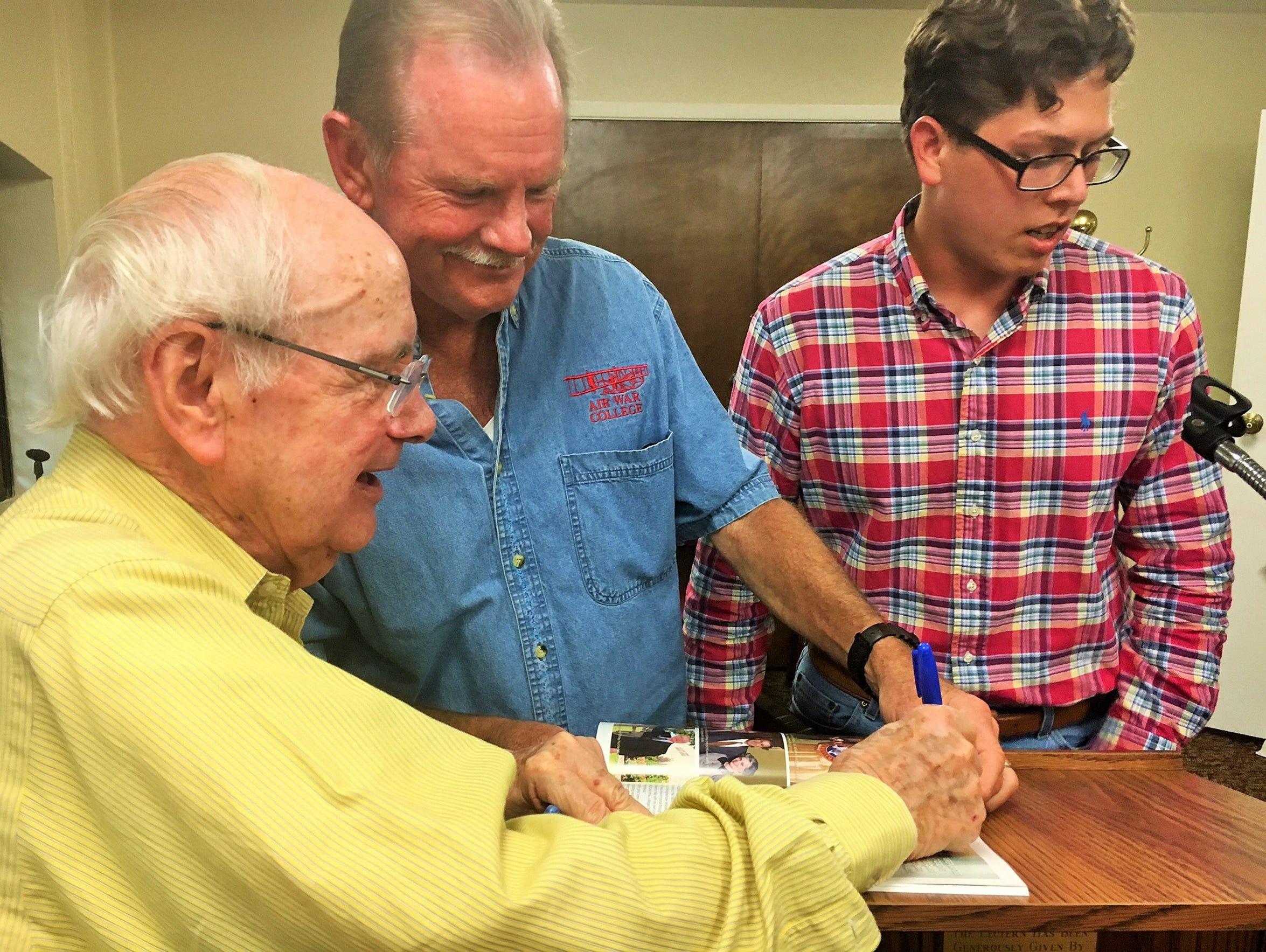 Bob Hunter, Larry Sanders, and Jacob Dukes, the current