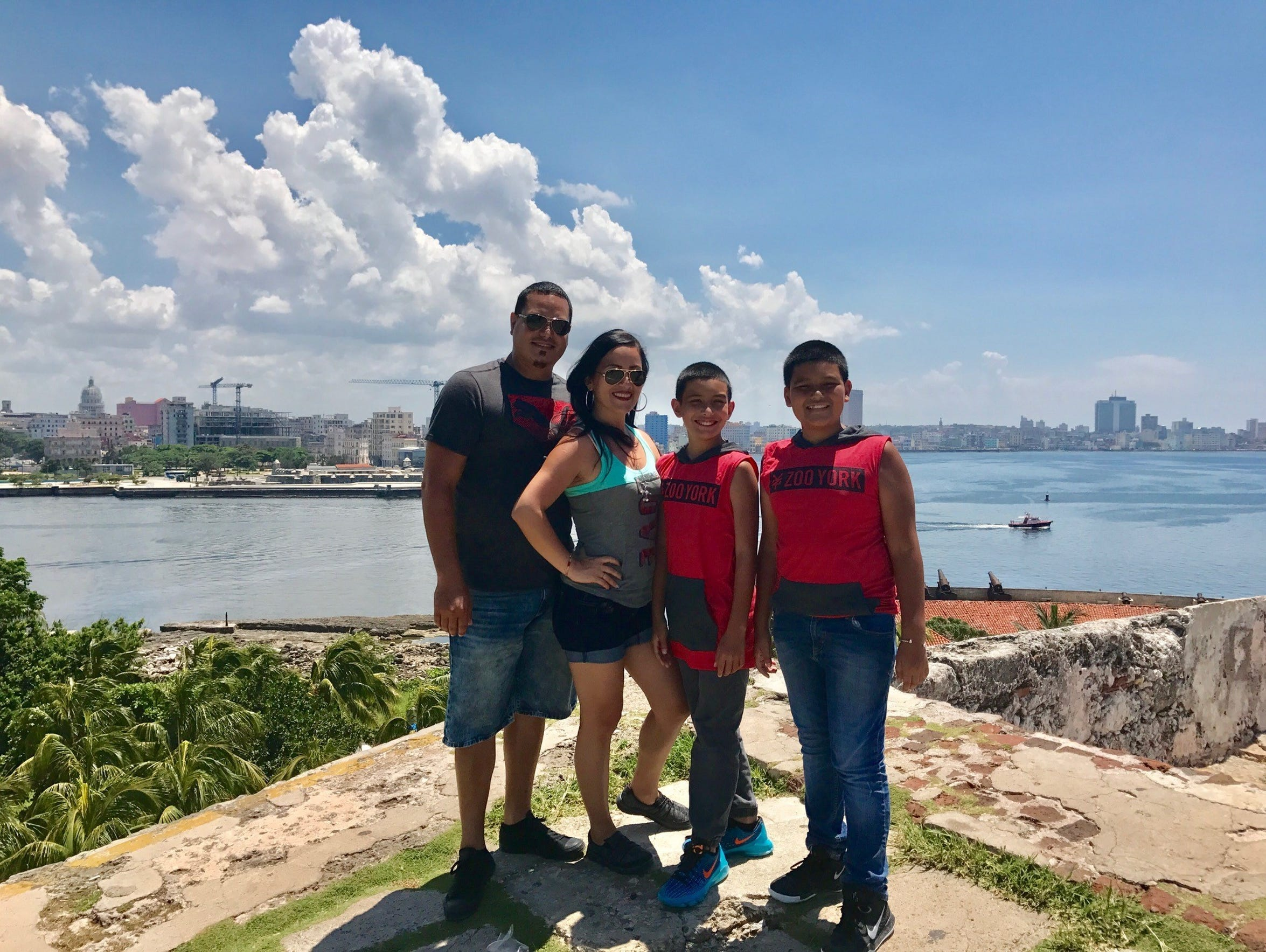 Yulissa Fernandez with her husband and two children.