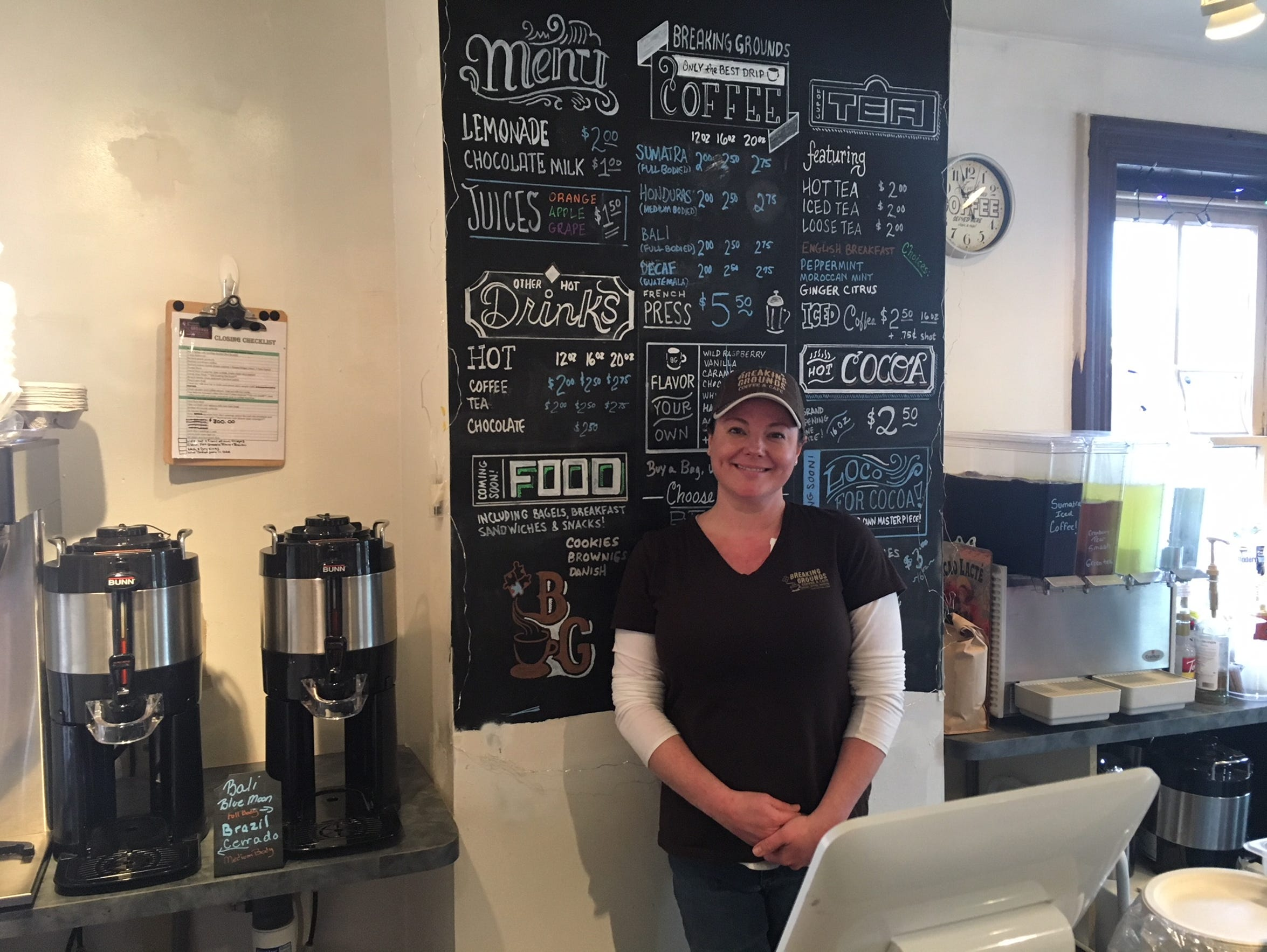 Brandi Fishman of Medford runs Breaking Grounds Coffee