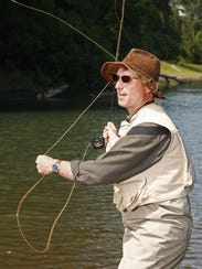 Henry Hughes is in his element on the Willamette River.
