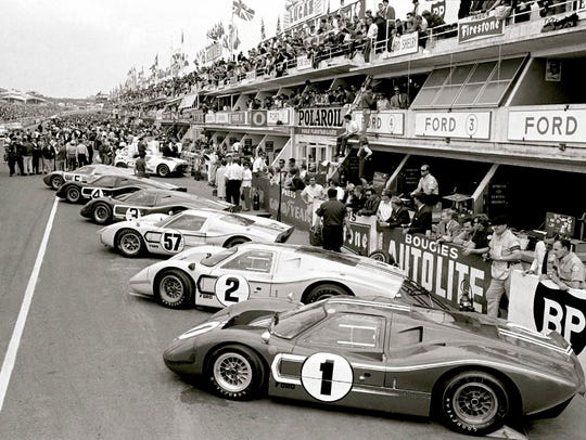 The 1967 LeMans winner, #1, the Ford GT40 MK IV