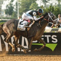 Tapwrit rallies to win 149th running of Belmont Stakes