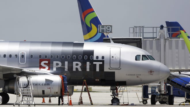 Spirit Airlines jets sit on the tarmac at Fort Lauderdale-Hollywood International Airport in Fort Lauderdale, Florida, in this 2015 file photo.
