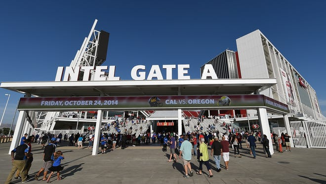 The 49ers knew intoxicated fans were especially dangerous on long lines waiting to use the restroom at Levi's Stadium, but failed to provide adequate security, a lawsuit by two men assaulted last year in a bathroom at the stadium alleges. (Photo by Thearon W. Henderson/Getty Images)