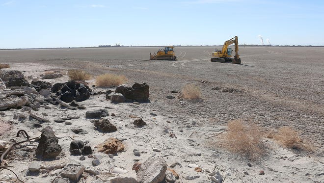 The Red Hill Bay restoration project is underway at the Salton Sea.
