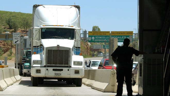 A large portion of produce sold in America passes through ports of entry on the southern border.