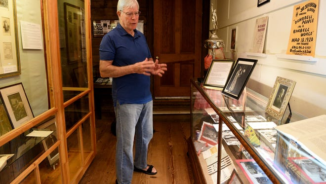 Bob Borders, co-curator of an exhibit at the Schoolhouse Museum in Ridgewood about Joseph Jefferson, a 19th century theater star who popularized the character of Rip Van Winkle.
