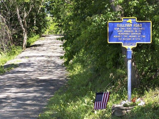 ELM Newtown Elmira Historical marker