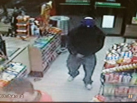 A man is suspected of robbing a pair of 7-Eleven stores