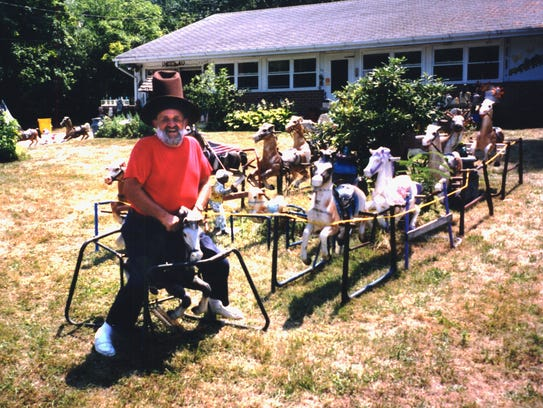 The late Richie Zorzi in front of his home in Kendall