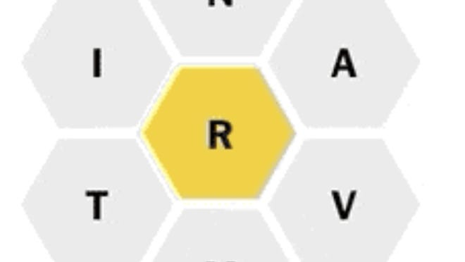 In The New York Times game Spelling Bee, six letters revolve around a central letter that has to be in each word.