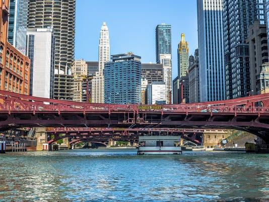 Chicago River LaSalle Street Bridge