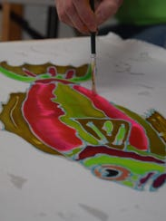 Learn to add color to batik projects such a this at