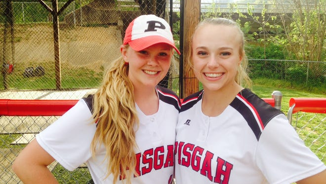 Pisgah's Kalei Mull, left, and Madison Whitted.