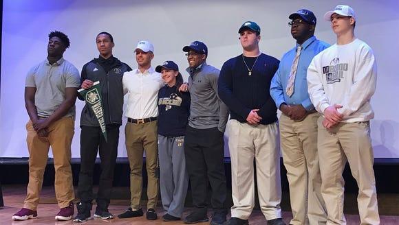 Eight senior athletes were honored at Paramus Catholic's