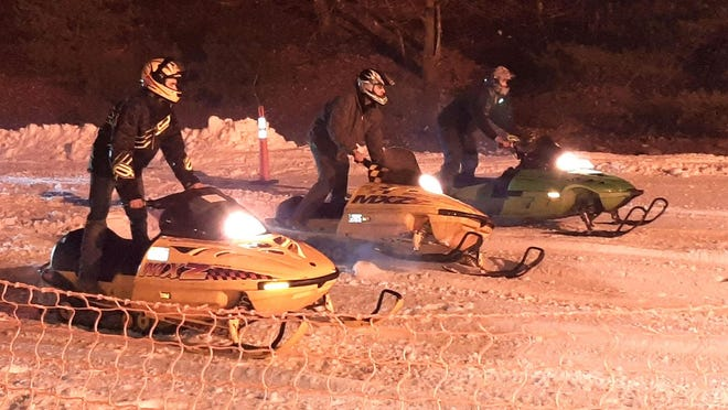 On Friday, Jan. 31, Holiday Mountain Ski & Fun Park was the setting for the Arctic Adventures Snowmobile Drag races hosted by the Snowmobile Hill Climb Racing Association.