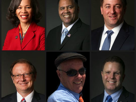 Candidates for Congress. Top to bottom, left to right: