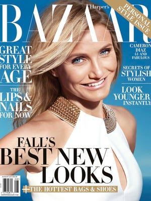 "Cameron Diaz on the cover of ""Harper's Bazaar."""