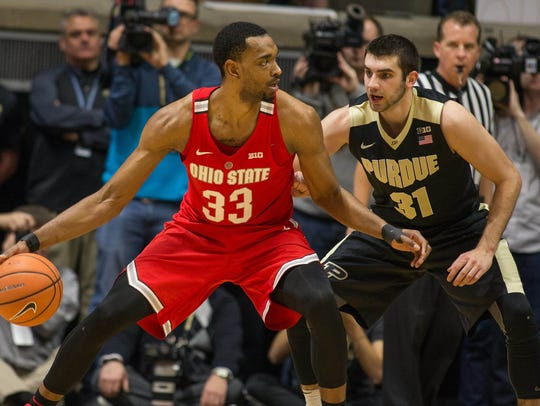 Ohio State forward Keita Bates-Diop dribbles the ball