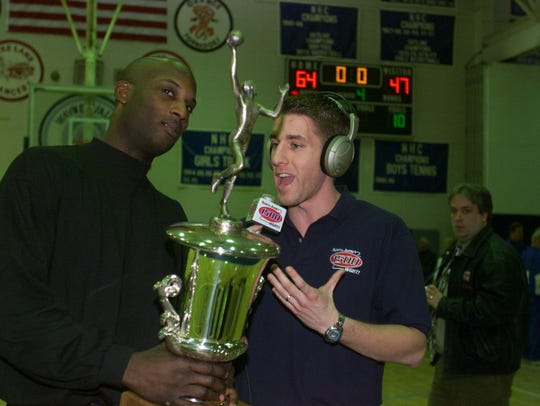 In this 2001 photo, New Jersey native Kevin Burkhardt