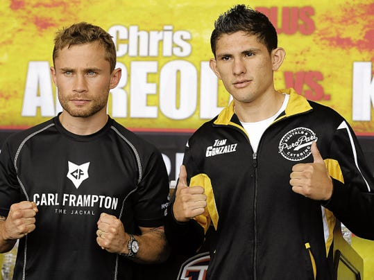 Carl Frampton will square of against Alejandro Gonzalez Jr., Saturday afternoon in the main event of the CBS/PBC fight card being held at the Don Haskins Center. Doors will open at 11:30 and the first fight will be begin at 12:30 p.m.