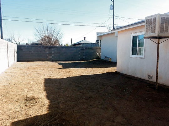 Courtesy Photo   Here is an image of the same backyard plot at the Healing House prior to the development of Project Green.