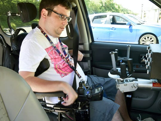 Andrew Kilbride, who suffered a spinal injury, has a handicapped equipped van that allows him independence. Kilbride talked Friday, July 31, 2015 about the Americans with Disabilities Act (ADA). Markell DeLoatch - Public Opinion