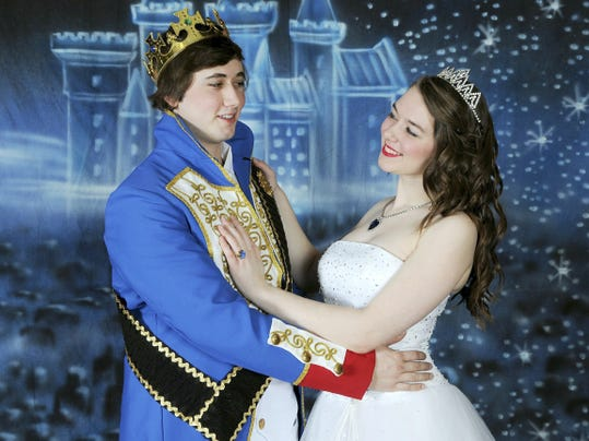 "Cassie McCabe, right, as the Princess Cat and Nathaniel Wachmuth as Prince Henry star in ""The Prince and the White Cat,"" April 25 and May 2 in Shippensburg University's Little Princess Playhouse."