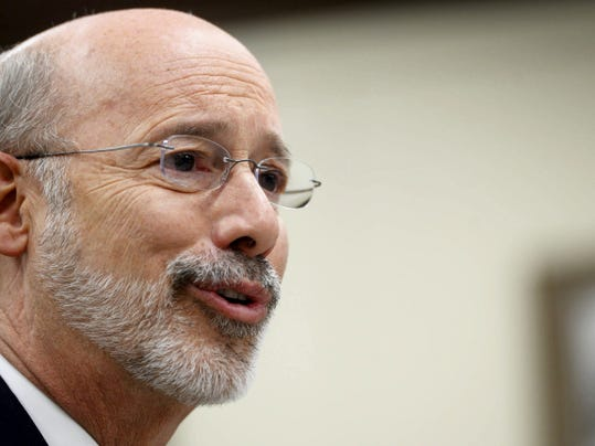 Gov.-elect Tom Wolf shown speaking to the York Daily Record/Sunday News editorial board and members of the public during the campaign, wants to change Pennsylvania's income tax.