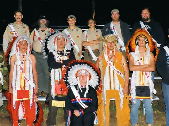 Local Scout Dalton Lenzo of Ruidoso (first row, far left) became the newest member of the Order of the Arrow, Kwahadi Lodge with the assistance of the Gila Lodge Ceremony Team. In the back row stand other Kwahadi Lodge Arrowmen who supported the ordeal at Wehinahpay Mountain Camp.
