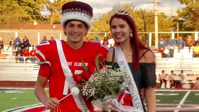 The 2017 Port Clinton High School Homecoming King Kyle Fitzpatrick and Queen Morgan Wojciechowski were crowned on Friday.