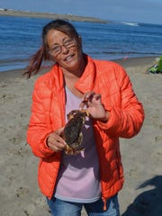Jeannine Camden of Lincoln City goes crabbing and/or