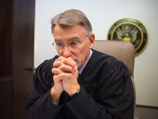 United States federal Judge Robert Brack hears a lot