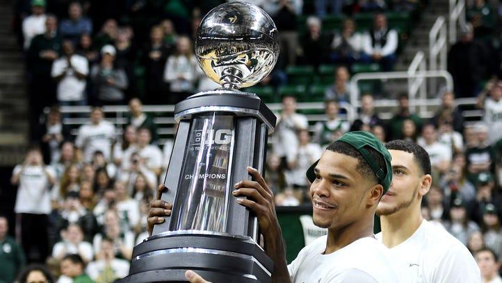 Michigan State's Miles Bridges, Jaren Jackson tight-lipped about NBA future
