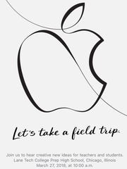Apple's invite to a March 27 event in Chicago