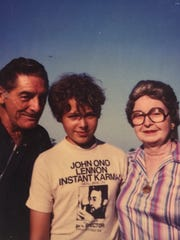 Rick Minor, around the age of 12, with his paternal grandparents.
