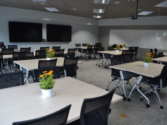 A classroom at the new Perdue Farms corporate training