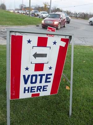 With a number of precincts held at the Hartland Educational Support Service Center and heavy voter turnout, lines formed on M-59 to enter the parking lot so voters could cast their ballots.