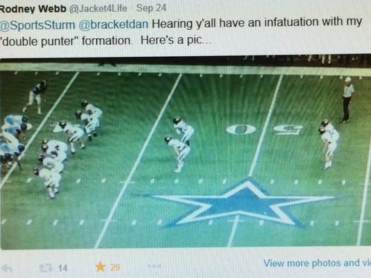 This tweet from DMN's Corbett Smith started the ball rolling.