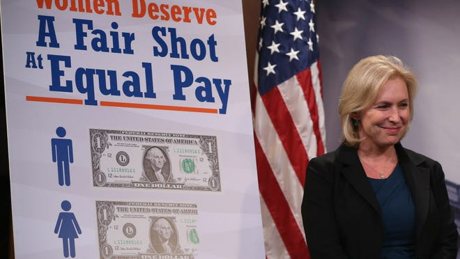 WASHINGTON, DC - SEPTEMBER 10:  Sen. Kirsten Gillibrand at a news conference on the Paycheck Fairness Act.