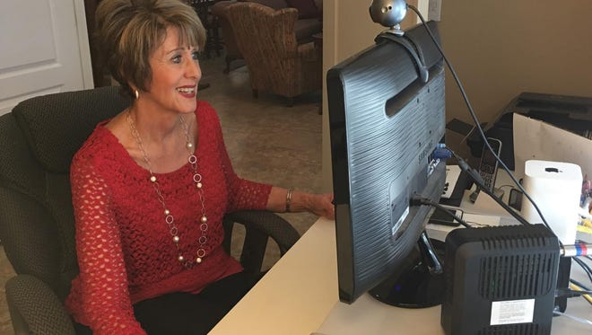 Communications consultant Nedda Shafir enjoys the flexibility of working from home.