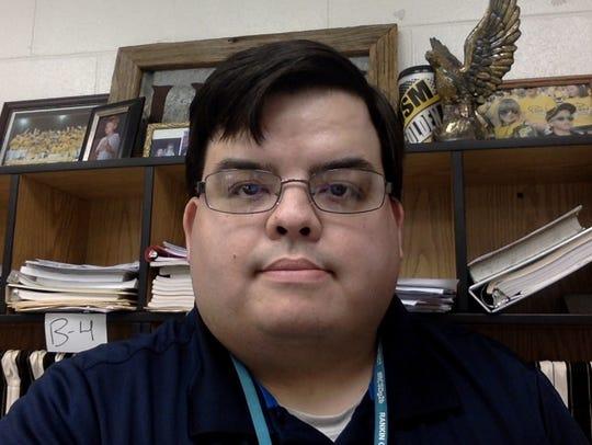 Teacher Clay Purvis