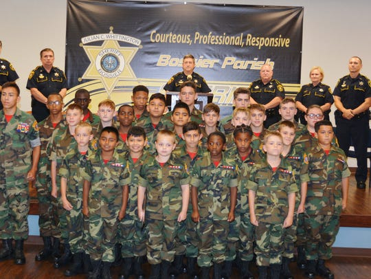 Bossier Sheriff's Young Marines Class 36, with an average