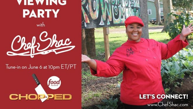 Chef Shacafrica Simmons is hosting a virtual viewing party for her Tuesday night appearance on Food Network's Chopped