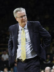 Coach Fran McCaffery's Iowa team is on a roll, winning five straight.