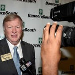 Mike Dennis speaks to the media before the Mississippi Sports Hall of Fame induction ceremony Saturday evening, August 1, 2015, at the Jackson Convention Center in downtown Jackson.