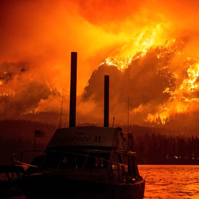 This photo provided by KATU-TV shows the Eagle Creek