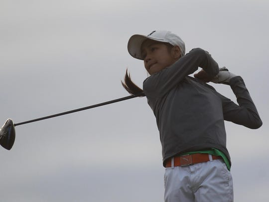 Community Christian sixth grader Tynley Cotton shot 77 on Wednesday at Southwood, finishing in a tie for first overall but dropping a playoff against Aucilla Christian sophomore Megan Schofill for medalist. Cotton advanced to next week's regional tournament.
