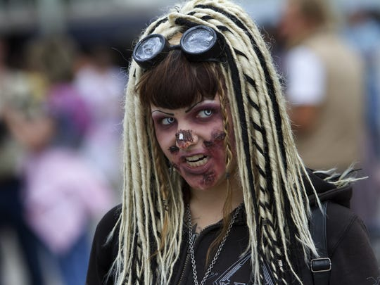 A scene from the 2012 New Jersey Zombie Walk in Asbury